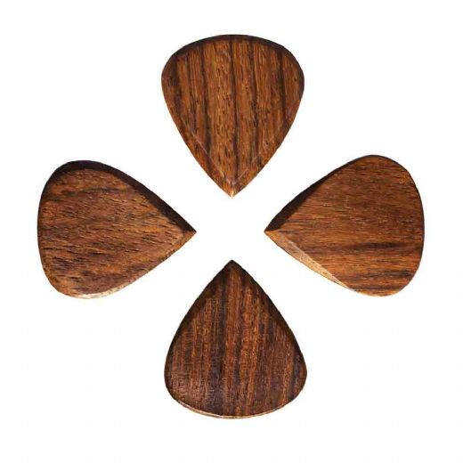 Blues Tones Indian Teak 4 Guitar Picks